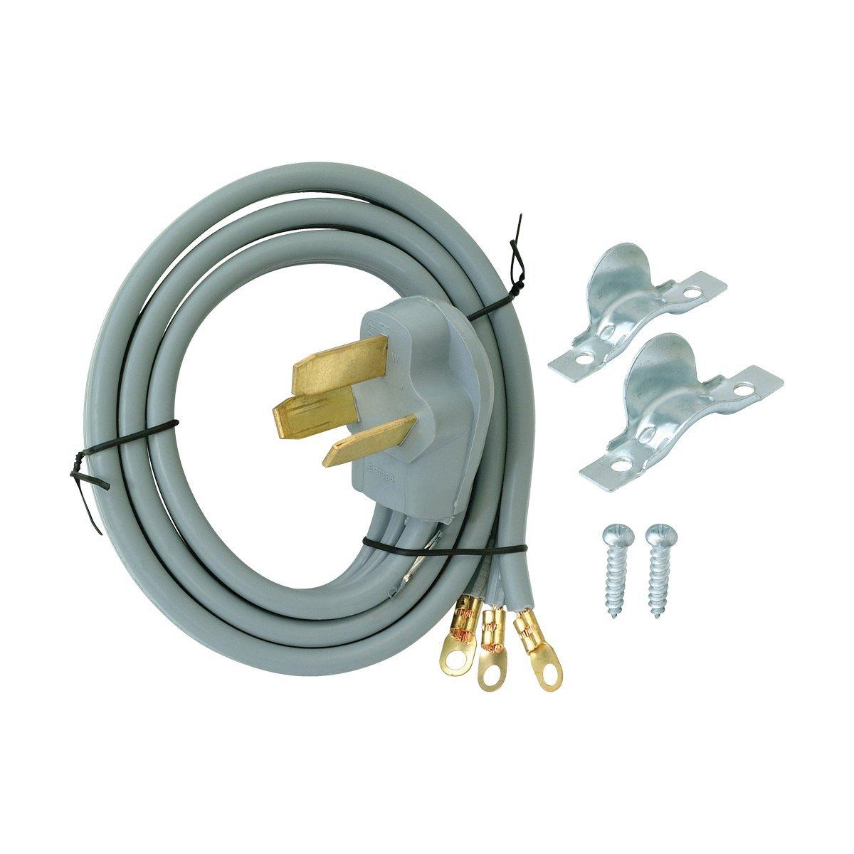 10-3 Wire 10/' EZ-FLO 61244 3-Prong Range Cord-50 AMP 3 Wire
