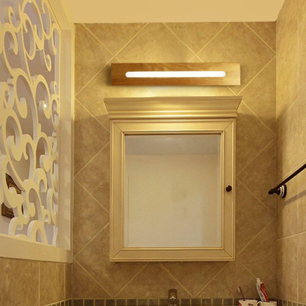 LI LU SHOP LED Solid Wood Staircase Aisle Wall Lamp Bathroom Mirror Front Light (Color : A-white light, Size : 45cm) by LI LU SHOP (Image #1)