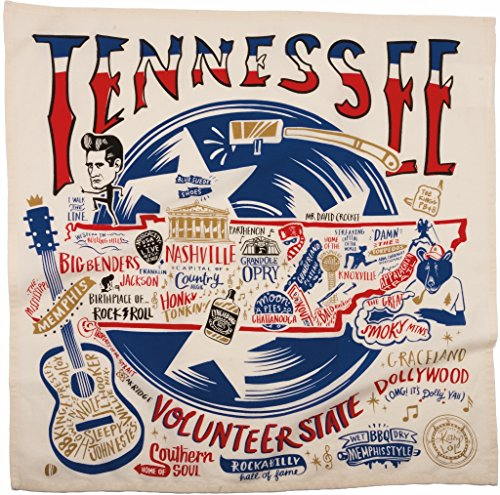 State Dish Towel - Tennessee State Dish Towel Primitives by Kathy