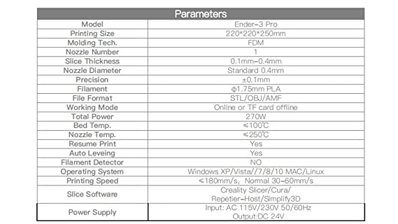 Amazon com: Creality Ender 3 Pro 3D Printer High precision
