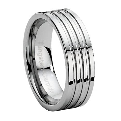Jewelry & Watches Stainless Steel Men's Multi Groove Wedding Band Ring Size 9-13 Wedding & Anniversary Bands