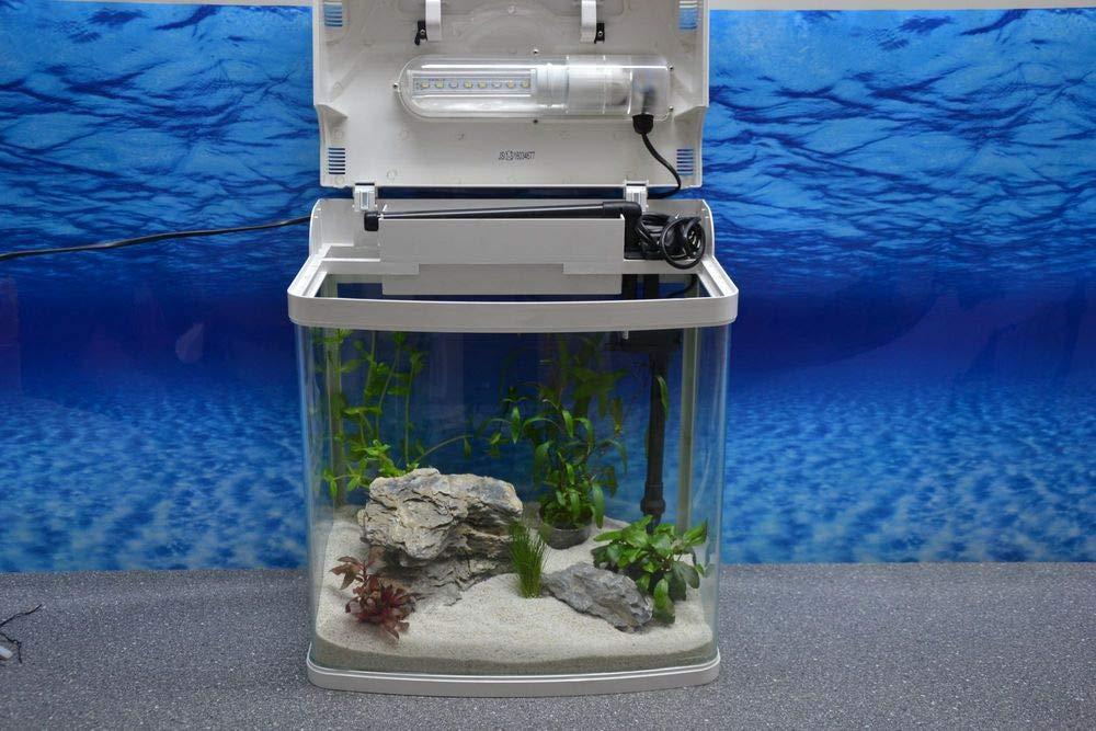 HRC-230 weiß Nano Aquarium Komplettaquarium Mini Aquarium Filteranlage Nanoaquarium Komplett Filter Beleuchtung Aquaristikwelt24