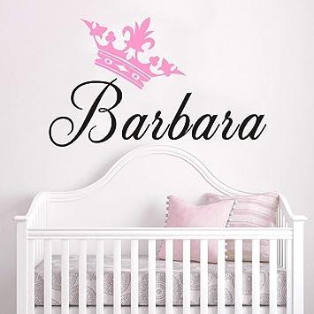 Amazon.com: Princess Crown Wall Decal Nursery Wall Art Baby ...