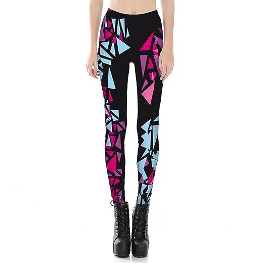 bac3646a904c6f Idingding Comfy Pants Women's Ultra Soft Digital Printed Elastic High Waist  Tights Leggings, Abstract Geometry
