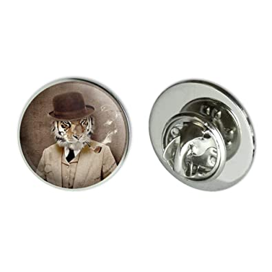Amazon com: GRAPHICS & MORE Tiger in Hat and Suit Smoking