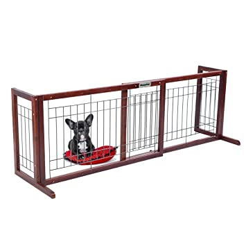 Amazon.com: DazzPet Free Standing Pet Gates | Extra Wide Indoor ...