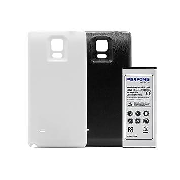 Perfine Galaxy Note4 [6440mAh] Batería Extendida con NFC para Galaxy Note4 / N910F / N910H Batería de Repuesto con 2 Carcasa Trasera (Negro - Blanco) ...