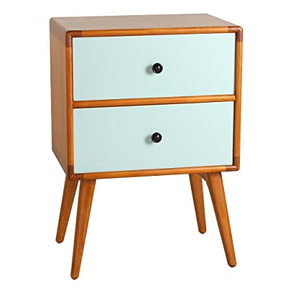 Porthos Home Tristan Mid Century Modern Side Table Aqua
