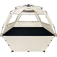 WhiteFang Beach Tent, Pop Up Instant Family Tent with UPF 50 Sun Protection,3-4 Person Automatic & Windproof Sun Shelter…