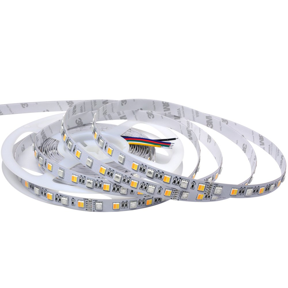 LGIDTECH LED Strip Lights Flexible UL Listed 300 Units 5050SMD 5 Meters DC 12V RGB+CCT Color Changing And Color Temperature Adjustable IP65 Waterproof For Christmas,Seasonal Holidays Decoration