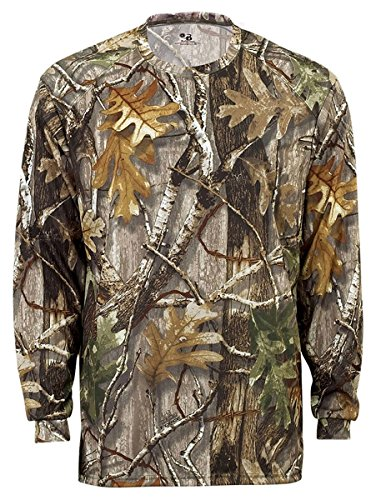 Badger Sport B-Core Long Sleeve T-Shirt - 4104 - Force Camo - X-Large