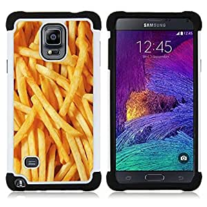 For Samsung Galaxy Note 4 SM-N910 N910 - French fries junk food fast yellow Dual Layer caso de Shell HUELGA Impacto pata de cabra con im????genes gr????ficas Steam - Funny Shop -