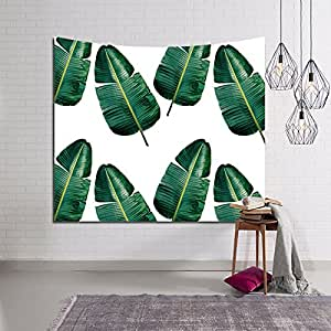 Hysenm Tropical Plant Monstera Tapestry Banana Leaves Wall Art