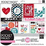Me and My BIG Ideas SRK-703 Pocket Pages Scrapbook Page Kit, 12 by 12-Inch, Love
