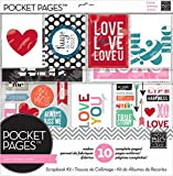 me & my BIG ideas Pocket Pages Scrapbook Page Kit, Love, 12-Inch by 12-Inch