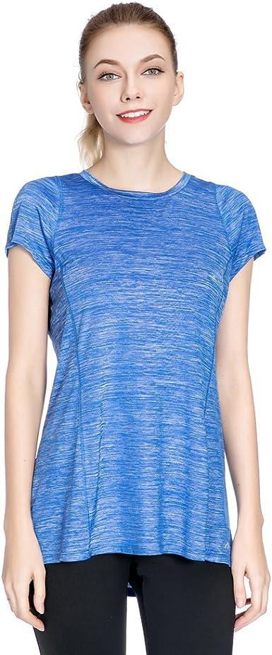 Special Magic - Camiseta deportiva de manga corta y con cuello redondo para mujer, moderna, holgada, mujer, azul real, X-Large: Amazon.es: Ropa y accesorios