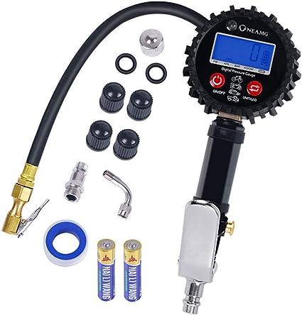 Manómetro Digital 250 PSI Medidor de Presión de Neumáticos con ...