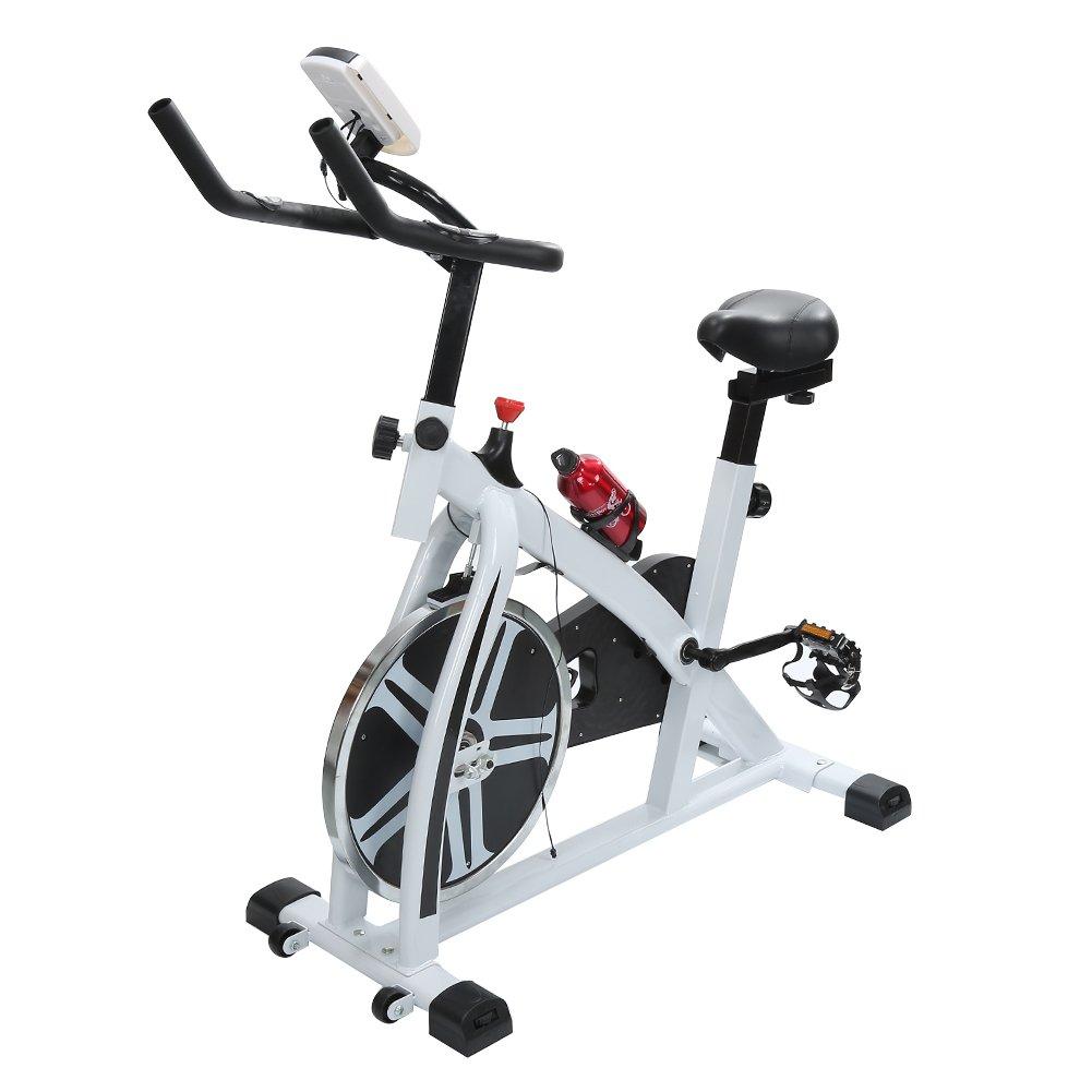 POPSPARKk bicicletas tradicionales de ciclismo indoor Bicicleta de spinning con bluetooth para el hogar Bicicleta de fitness con un lugar para beber taza ...