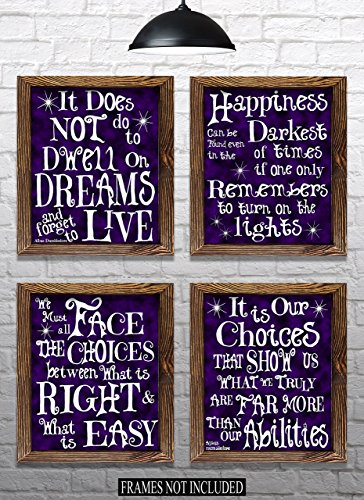 Harry Potter Quote Wall Art - Set of 4 - 8