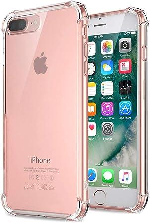 Jenuos Cover iPhone 7 Plus/iPhone 8 Plus, Custodia Antiurto Paraurti Silicone Trasparente Cover TPU per iPhone 7 Plus And iPhone 8 Plus 5.5