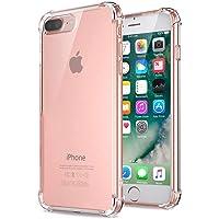 Jenuos Funda iPhone 7 Plus/iPhone 8 Plus, Transparente Suave Silicona Protector TPU Anti-Arañazos Carcasa Cristal Caso…