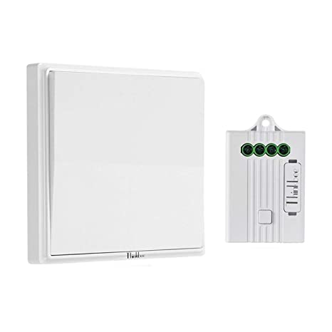 181f3098dd Thinkbee Wireless Light Switch Kit,No Battery No Wiring No WiFi Required, Easy to
