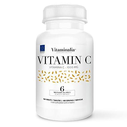 Vitamina C | Dosis Diaria 1000mg | Suministro para 6 Meses (180 Comprimidos) |