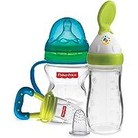 Fisher-Price Newborn Feeding Starter Kit (Green and Blue)