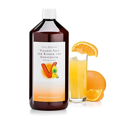 Sanct Bernhard Vitamin-Saft für Kinder und Erwachsene mit Vitamin C, B, Folsäure