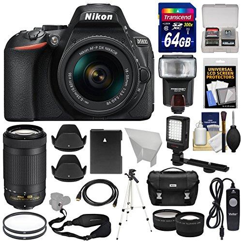 Nikon D5600 Wi-Fi Digital SLR Camera with 18-55mm VR & 70-300mm DX...
