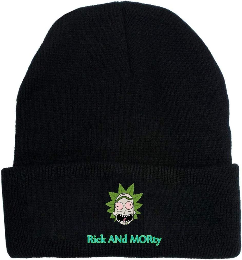 Sanheng New Released New Rick Morty Embroidery Beanie Hat Winter Warm Knitted Hat Ski Cap For Unisex Women Men Outdoor Accessories