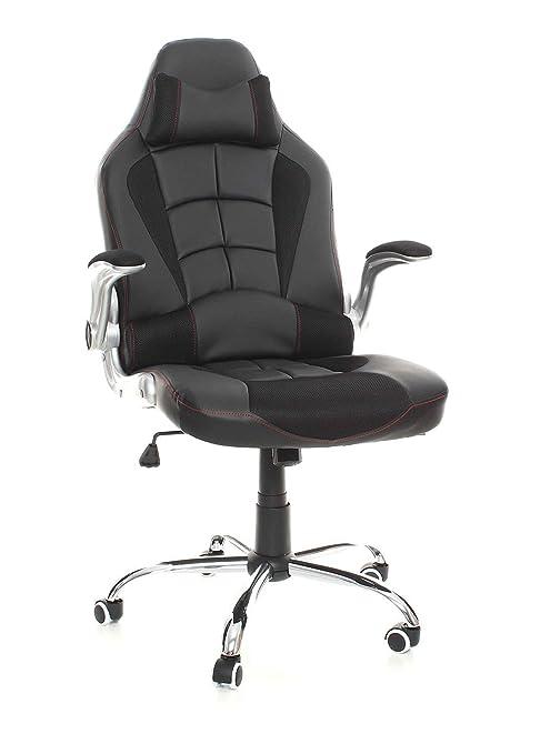 eMarkooz silla de oficina (Respaldo Alto Silla De Oficina De Piel Giratoria Recline Rocker Muebles