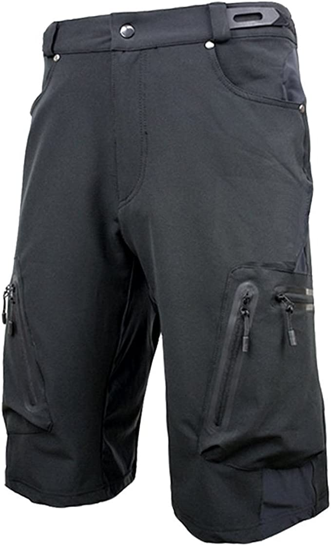 Herren Radfahren Fahrradhose Mountainbike Kurzhose Radlerhose Sport Shorts DE