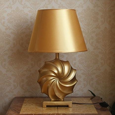 Simple Oro Elegante Sala de estar Lámparas de mesa,Moderno ...