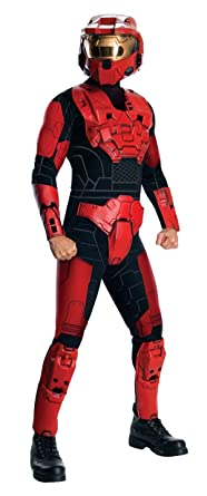 halo deluxe spartan costume red x small