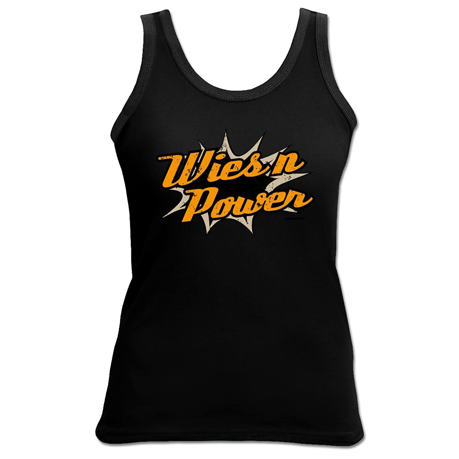 Tank Top Wiesn Power Damenshirt Damen Apres Ski Funshirt lustiger Aufdruck Girlie Girl cool
