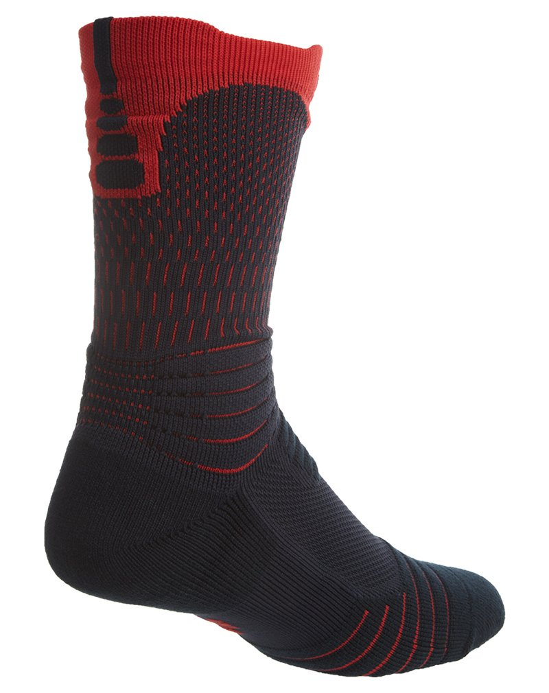 4a32eae58f3a Buy Nike Elite Versatility USA Basketball Crew Socks (475 Dark  Obsidian University Red