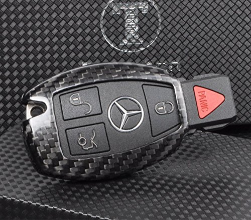T-Carbon Luxury Geniune Carbon Fiber Remote Key Chain 3k Highlight Polish Keyless Protection Case Cover for Mercedes-Benz S Class, SLS AMG ,SLR Class by T Carbon (Image #5)