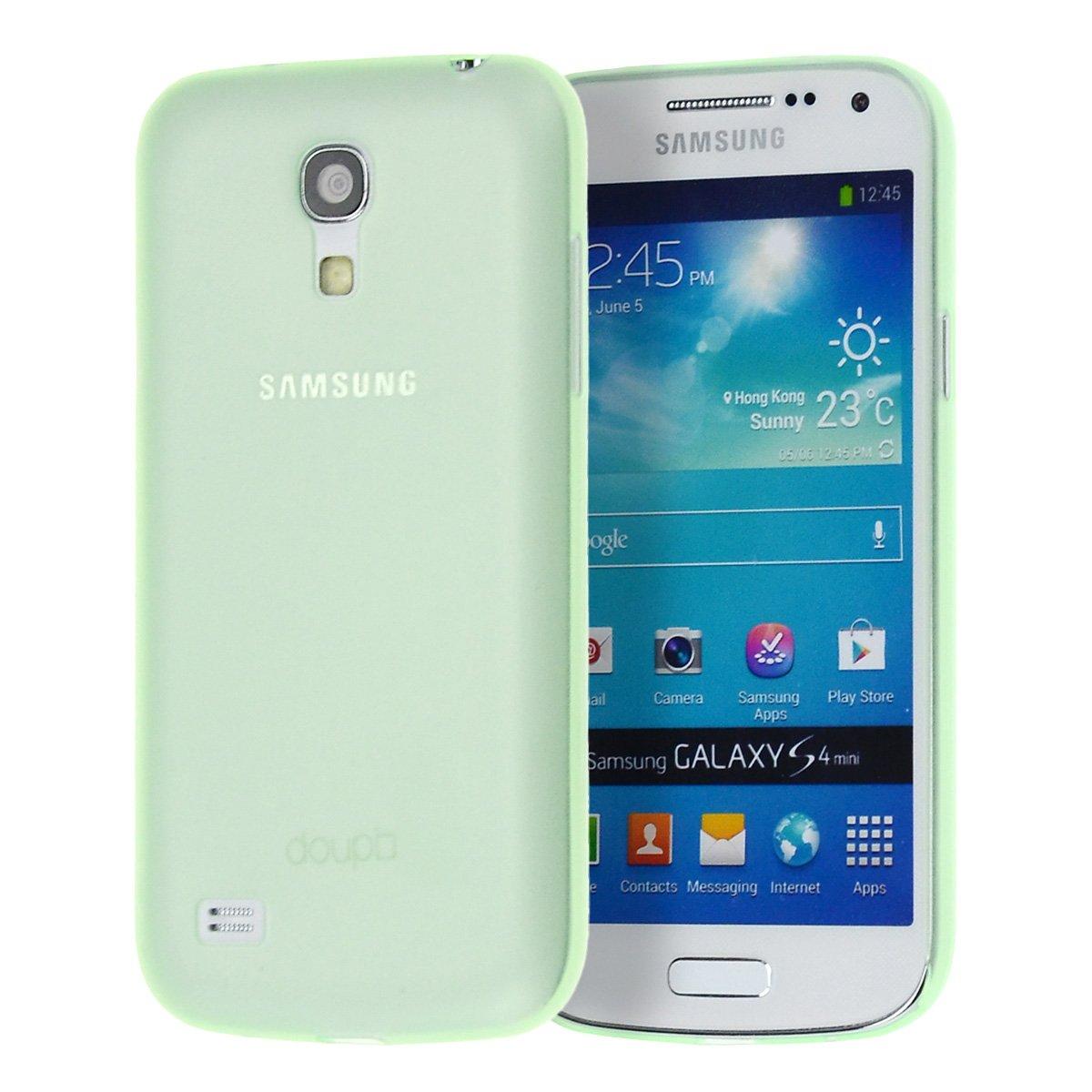 doupi UltraSlim Case Samsung Galaxy S4 mini Fine Matte Feather Light Bumper Protector Sleeve Skin Cover - Green