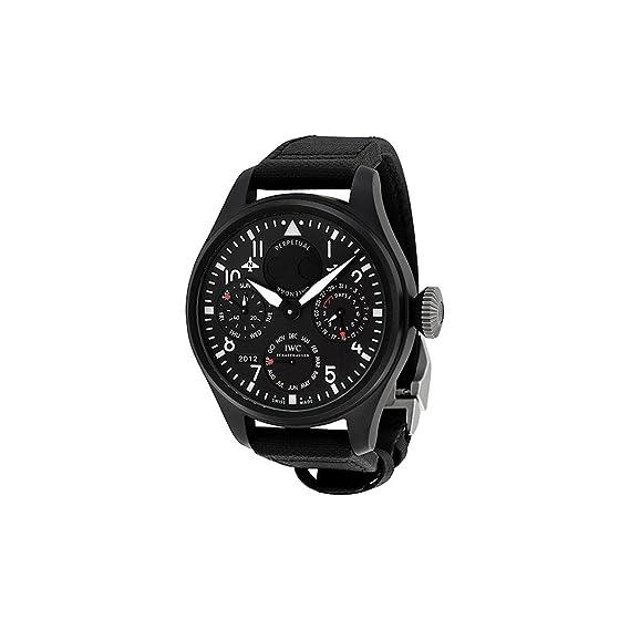IWC Grande Piloto Perpetual Arriba Pistola Negro Dial Mens Reloj 5029 – 02
