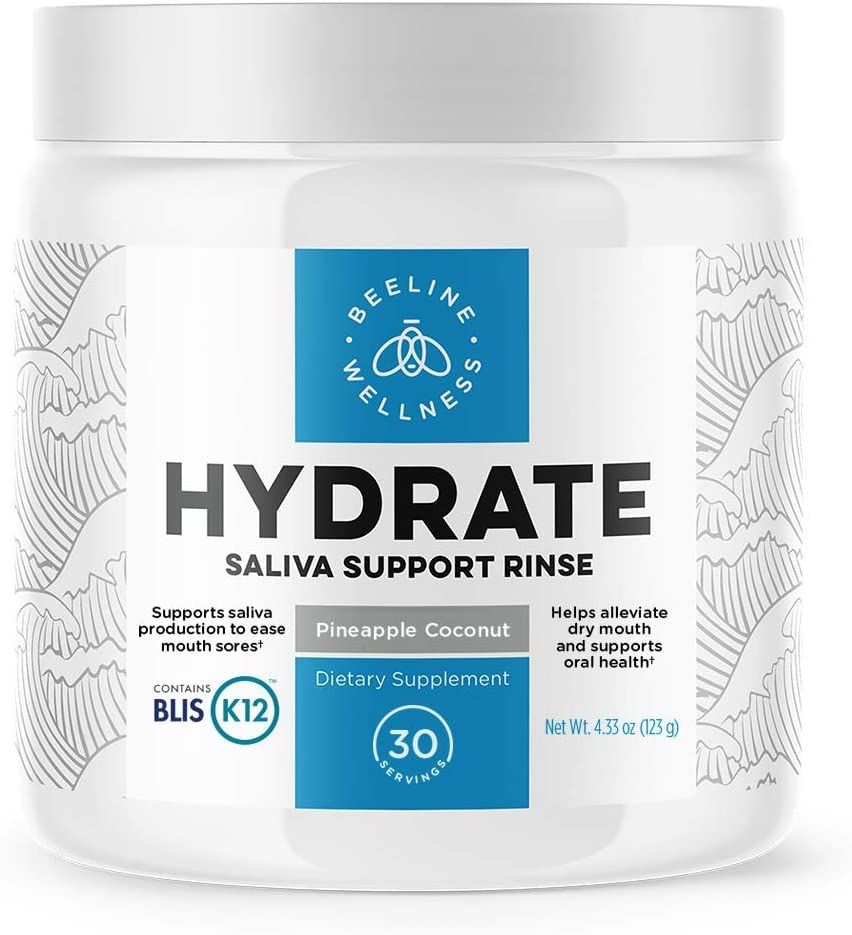 Hydrate - Dry Mouth and Oral Sore Restoration | Replenish Your Oral MICROBIOME | Canker Sore & Bad Breath Treatment | Blis K12 Oral PROBIOTIC for Maximum Immune Boosting.