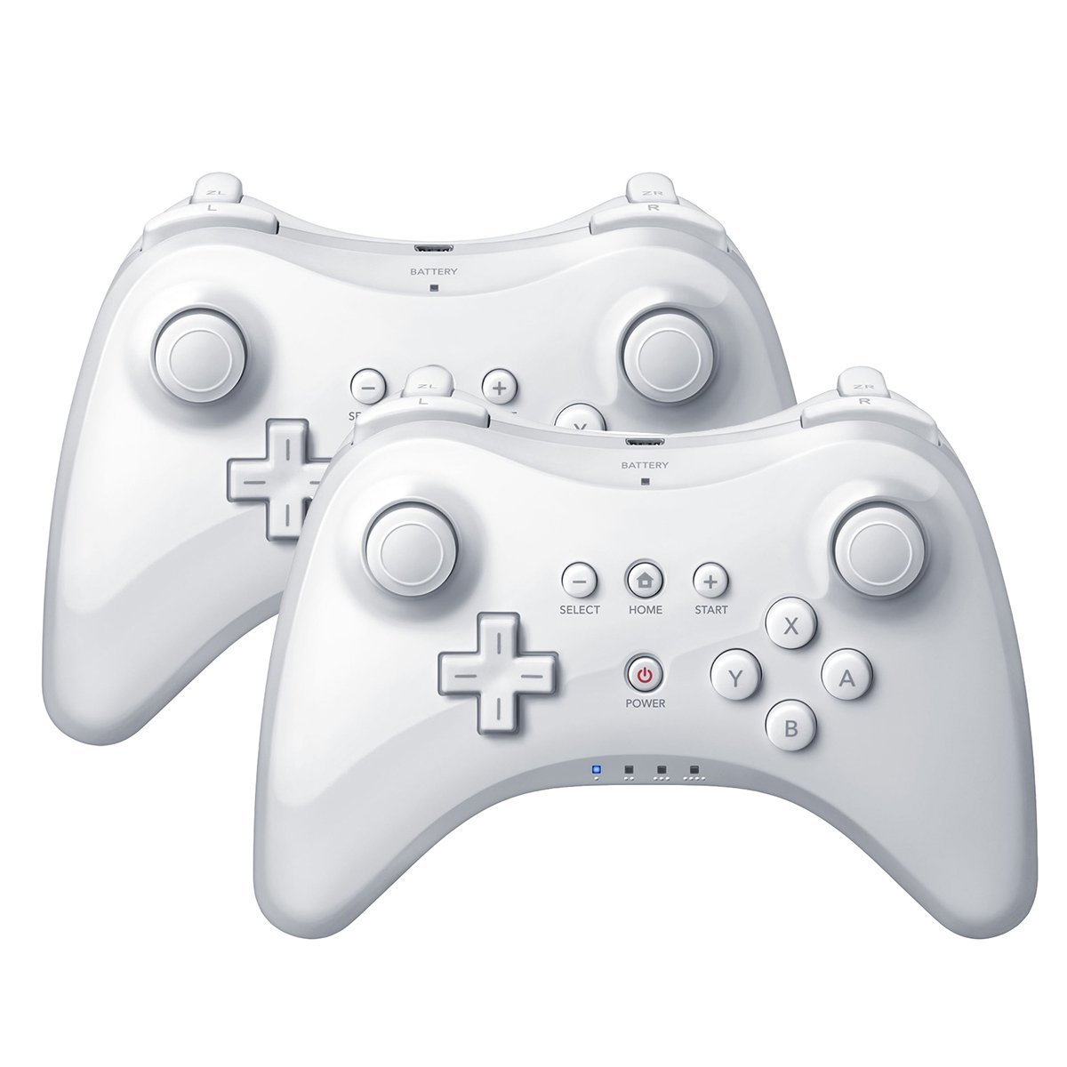 QUMOX 2x White Wireless Bluetooth Remote U Pro Controller Gamepad for Nintendo Wii U by QUMOX (Image #1)