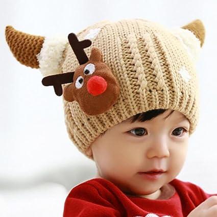YINGER Sombrero de Invierno cálido bebé Hecho Punto - para bebés y niños  pequeños - Encantador c35940d841e