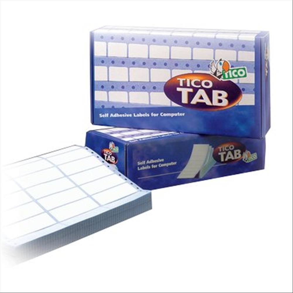 Tico TAB1-0893 Etichette a Modulo Continuo, 89 x 36.2, Bianco Tico Italia 420915