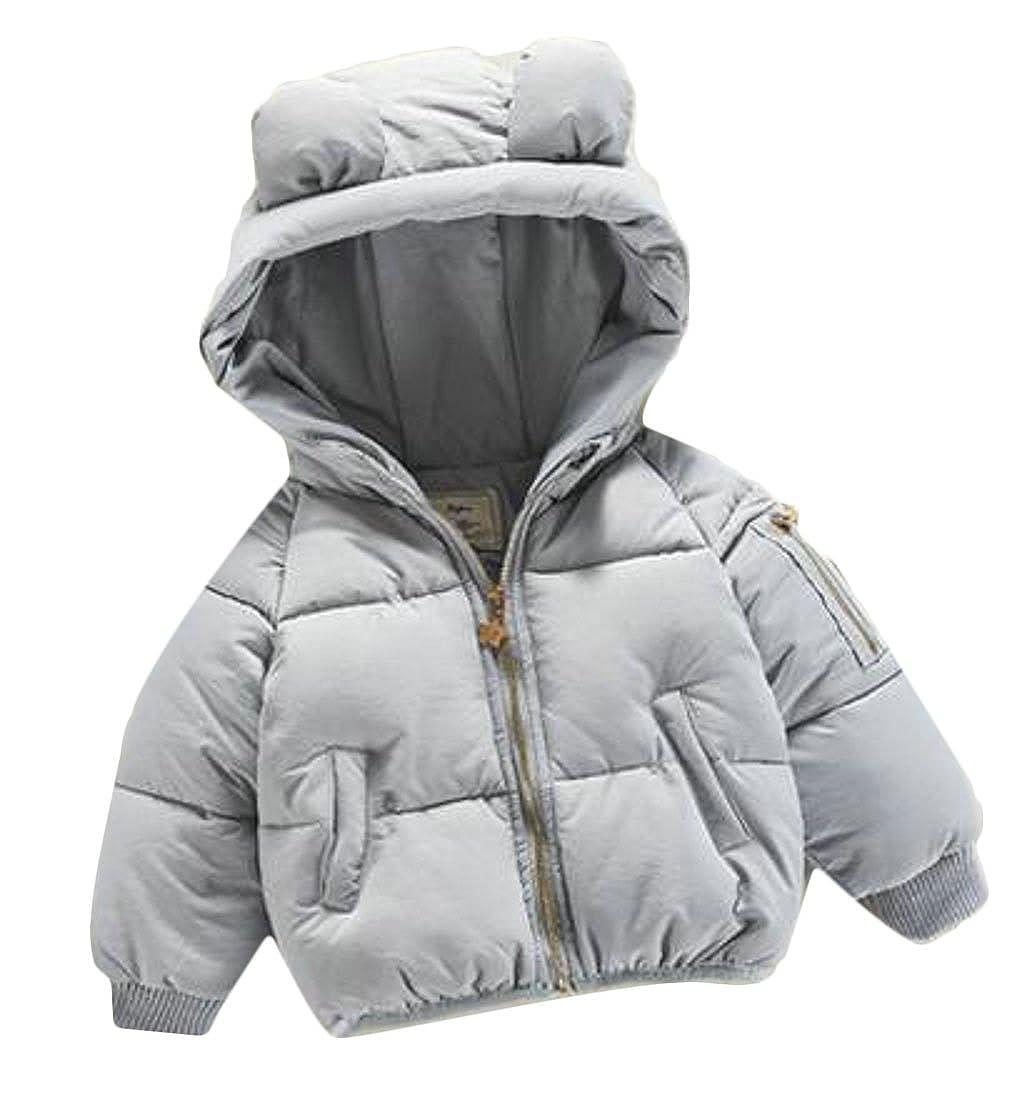 Sweatwater Girls Winter Hooded Puffer Padded Zip-Up Outwears Jacket Coat