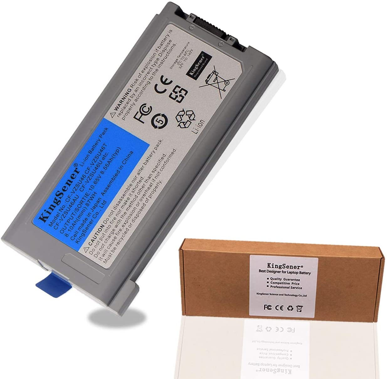 KingSener 10.65V 8.55Ah Laptop Battery CF-VZSU46 for Panasonic Toughbook CF-30 CF-31 CF-53 CF-VZSU46AU CF-VZSU46U CF-VZSU46S