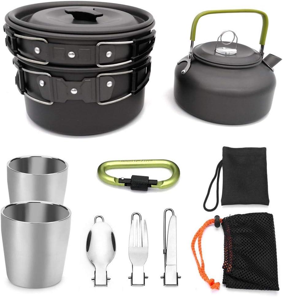 Kit de Utensilios Cocina Camping Kit de desorden Olla Sartén ...