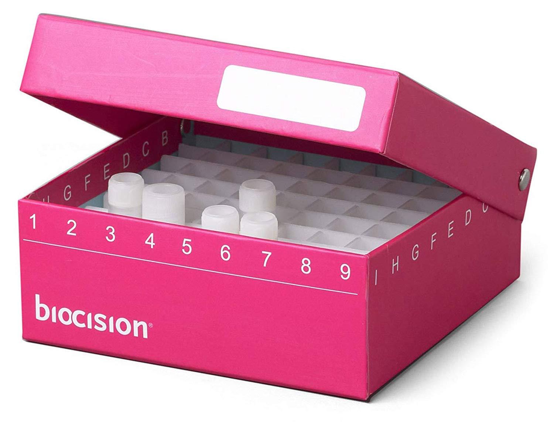 Biocision BCS-206PK Pink TruCool Hinged Cryobox (Pack of 5)