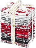 Peggy Toole Holiday Flourish 10 Scarlet 17 Fat Quarters 1 Panel Robert Kaufman Fabrics FQ-1208-18