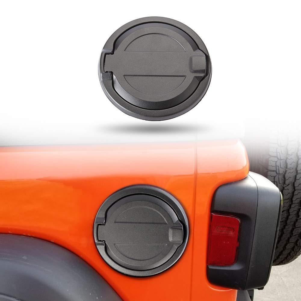 SUNPIE Jeep JL Fuel Filler Door | Gas Cap Cover for Wrangler JL & Unlimited 2018 2019 (Black)